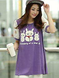 Umstands Kaninchen Bedruckte T-Shirt