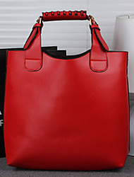 Wangyu Women's Korean New Style Vintage PU Leather Tote
