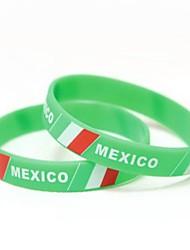 Мексика флаг шаблон к ЧМ-2014 Силиконовая лучезапястного сустава
