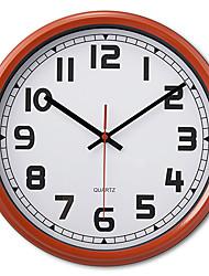 """12 """"style antique mur de métal rouge et blanc horloge"""