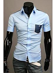 Men's Tops & Blouses , Cotton Blend Long Sleeve Casual DDMEN