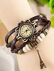 Hanno Retro Tower Punk Hand-Woven Bracelet Watches (Brown)