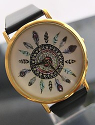 Women's Watch Fashion Peacock Feathers Pattern Watch