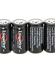 Lingsfire 1000mAh 16340 батареи (4шт) + 4 шт / лота жесткого пластика Батарея Коробка для 16340 батареи