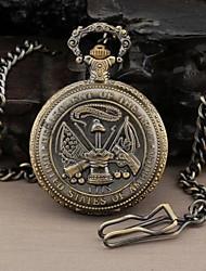 Ronda Hombres Dial Militar de los Estados Unidos militar Estilo del reloj de bolsillo del análogo de cuarzo