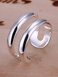 R&D Silver-Plated Open Ring