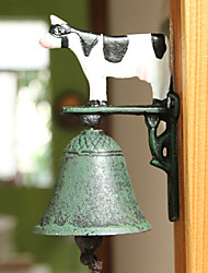 Nordic Village Vintage Wrought Iron Painted Cow Type Door Bell