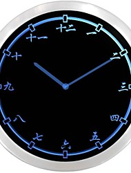 nc0955 Chinese Japanese Numerals Kanji Neon Sign LED Wall Clock