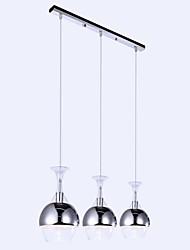 Lampadario, 3 Light, Simple artistico Acciaio inossidabile Placcatura MS-33090