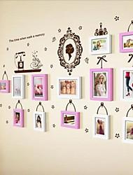 Quadro 2 cores Photo Set de 13 com adesivos de parede