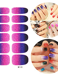 28PCS scintillants des dégradés Nail Art Stickers Série M n ° 110