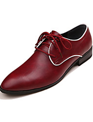 Men's Shoes Party & Evening Leather Oxfords Green/Burgundy
