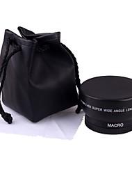 52MM 0.45X Weitwinkel-Objektiv Makro-Objektiv Tasche für Nikon D5000 D5100 D3100 D7000 D3200 D80 D90
