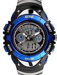 Skmei®Fashion Children Dual Time Zone LED Digital Wrist Watch 30m Waterproof Assorted Colors