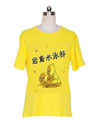 Inspiré par Free! Nagisa Hazuki Anime Costumes de cosplay Cosplay T-shirt Imprimé Jaune Manche Courtes Manches Ajustées