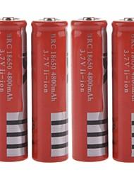 "18650 3.7V batteria ricaricabile Li-ion ""4800mAh"" Batteria - Red (4PCS)"