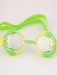 Crianças Natação espelho pode ser ajustado Anti-fog Waterproof acoplado na orelha verde e amarelo