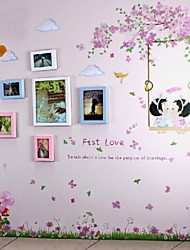 3 colori Photo Frame Set di 6 con Wall Sticker