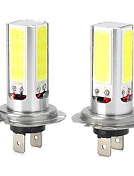 High Power H7/H4/T20 20W 6500K 1300lm 4-COB LED Cool White Car Head Light / Foglight (12~24V / 2 PCS)