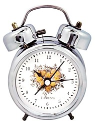 Timess™  Carnation Double Bell Night-light Mute Alarm Clock