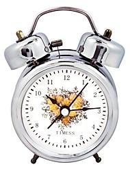 Timess ™ Carnation Double Cloche nuit-lumière Alarme Horloge Mute