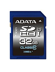 ADATA 32Go Classe 10 / UHS-I U1 SD/SDHC/SDXCMax Read Speed55 (MB/S)Max Write Speed33 (MB/S)