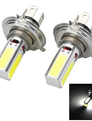 Marsing H4 20W 1500lm 4-COB LED 6500K White Light Car Headlamp / Foglight - (12V / 2 PCS)
