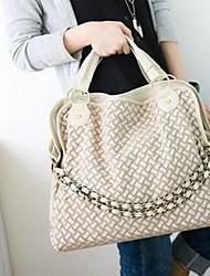 Vizon Women's PU Leather Chain Woven Handbag