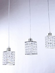 Lampadario, 3 Light, Crystal artistico Acciaio inossidabile Placcatura MC-29174