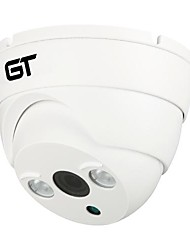 GT VIEW H.264 Dual Stream 3.6MM Day/Night Waterproof  Dome CCTV IP Camera,Support Mobile Detection GT-706