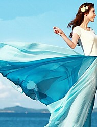 Contraste de la Mujer SSMN color de la gasa larga falda