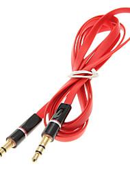 3,5 1,2 4 pi de nouilles plat auxiliaire AUX Audio Cable Jack Homme Cord Homme