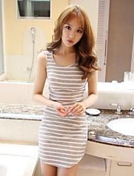 Women's Dress Mini Sleeveless Black / Gray Summer
