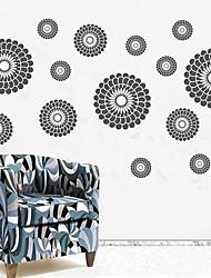 Createforlife ® Autocollant de pièce de crèche mur Wall Art Stickers Black Multi Fleurs enfants
