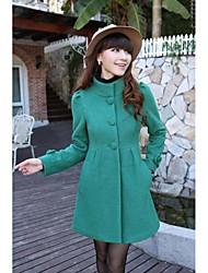 Women's Stylish Single-breasted Wool Coat