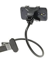 70cm Cómodo soporte de teléfono celular con Clips (Negro, Blanco)