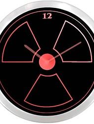 nc0927 radioactifs enseigne au néon Horloge murale LED