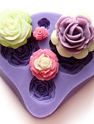 Four Flowers Shaped Bake fandant mold,L7cm*W7.3cm*H1.3cm