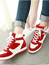 talón de la plataforma del dedo del pie redondos zapatos zapatillas de deporte de la manera de la lona de las mujeres (más colores)