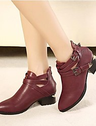 Women's Low Heel Pointed Toe Ankle High Boots (More Colors)