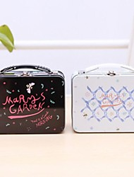 Plastic Mary's Garden Small Lunch Boxes, 14x10.5x6.2cm Color Random