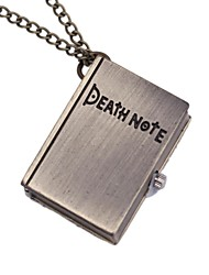 Unisex Retro Death Note Book Shaped Pendant Quartz Pocket Watch with Chain (Bronze) Cool Watches Unique Watches