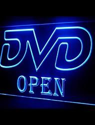 DVD OUVERT Publicité LED Connexion