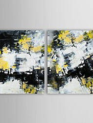 iarts®hand pintura a óleo pintado retrato abstrato parede com esticada conjunto de quadros de 2