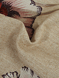 """TWOPAGES® Country Khaki Floral/Botanical Linen/Polyester Blend Embroidery Fabric Width=55"""" (140 cm)"""