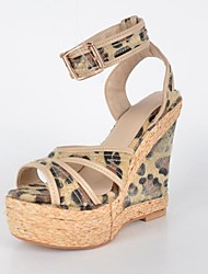 bc Damen Wedge Peep Toe Pumps Sandalen