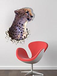 Der Leopard 3D-Wandaufkleber Wandaufkleber