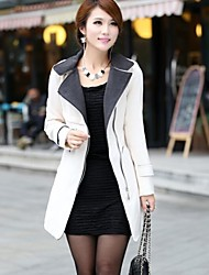 Women's New Winter Coat Lapel Collar Wool in The Long Section Coat