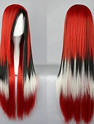 Charm Lolita Red Black White Mixed Anime Cosplay Party Wig