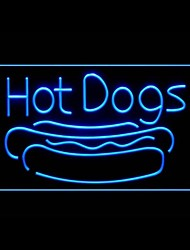 Long Hot Dog Advertising LED Light Sign